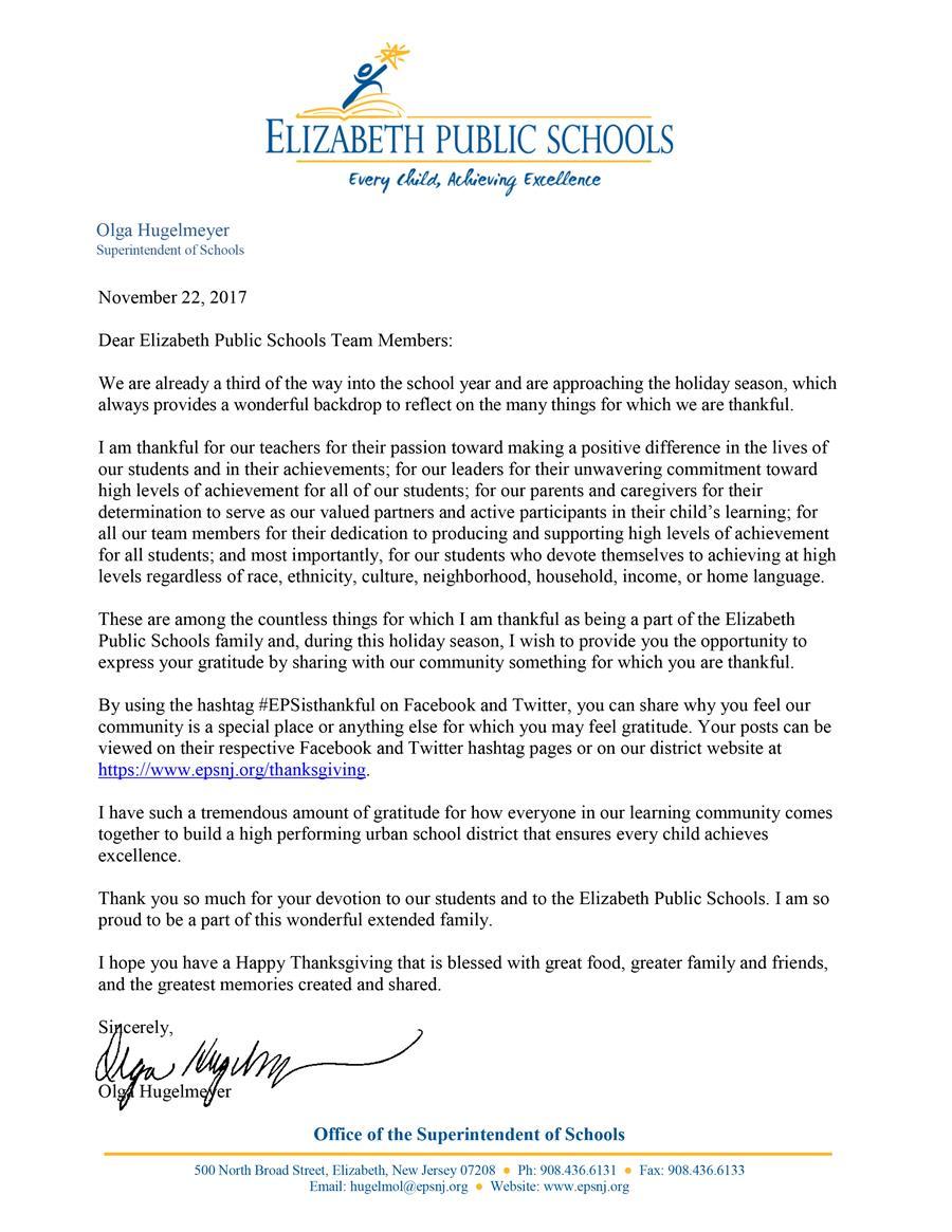Elizabeth School District / Homepage