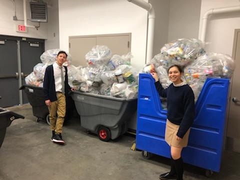 The recycling program at Elizabeth High School – Frank J. Cicarell Academy is well underway