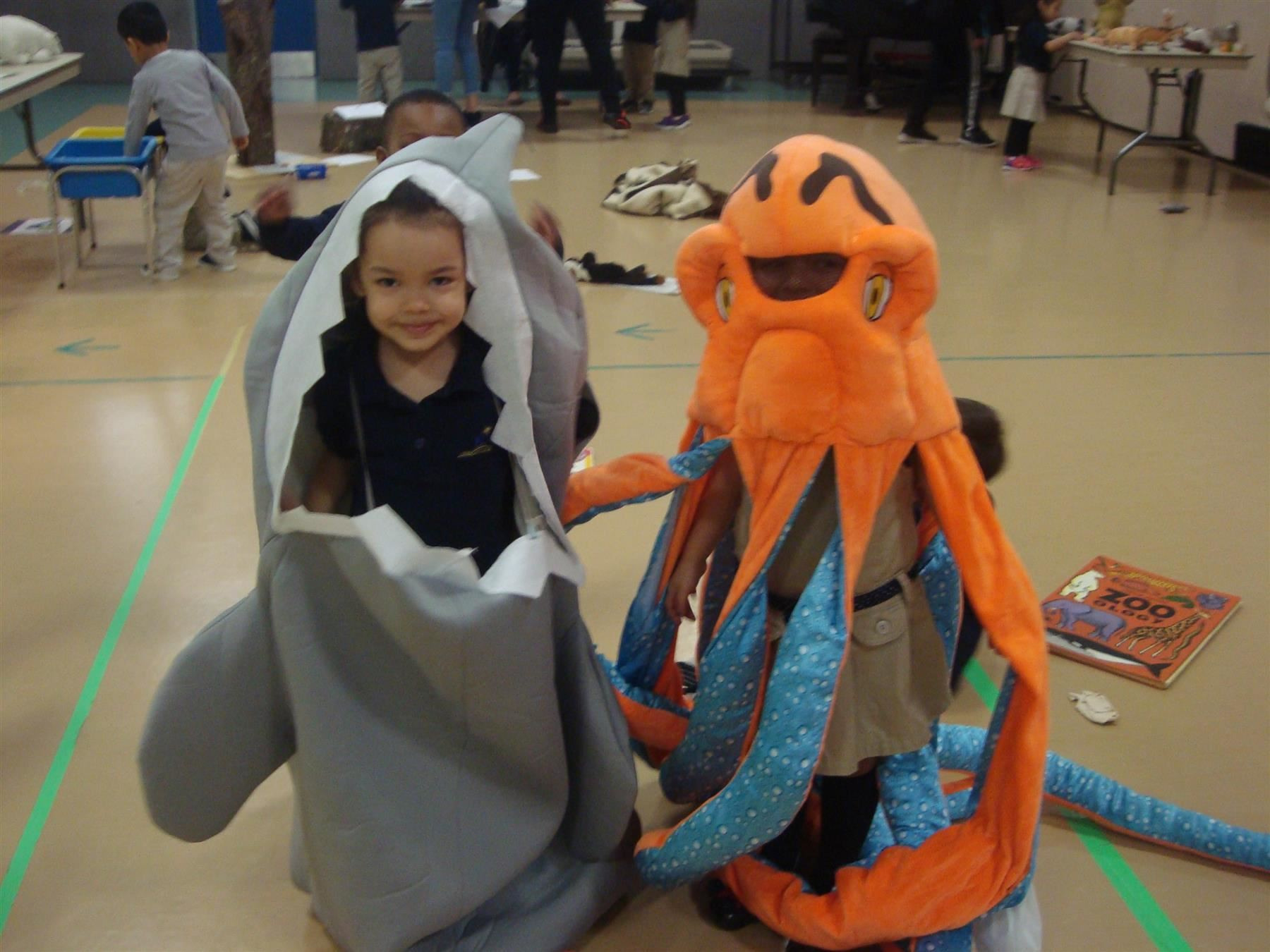 shark and octopus