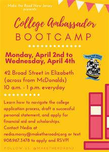 College Ambassador Boot Camp