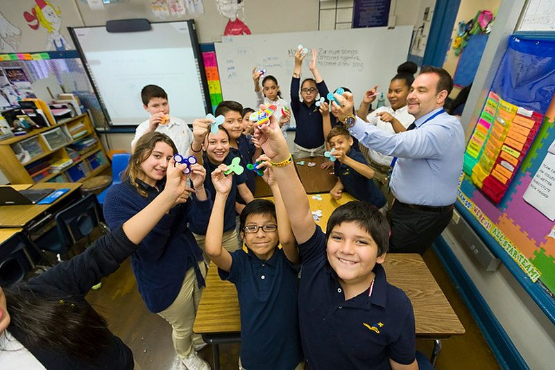 How one school surrendered to the fidget spinner craze