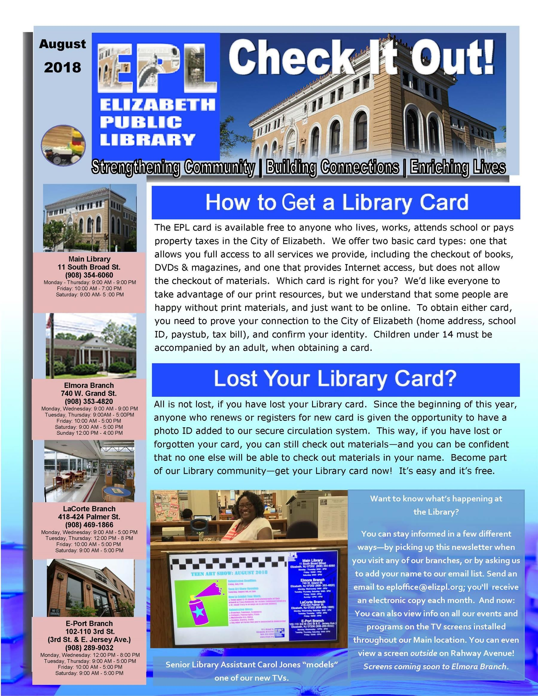 Summer Continues at Elizabeth Public Library