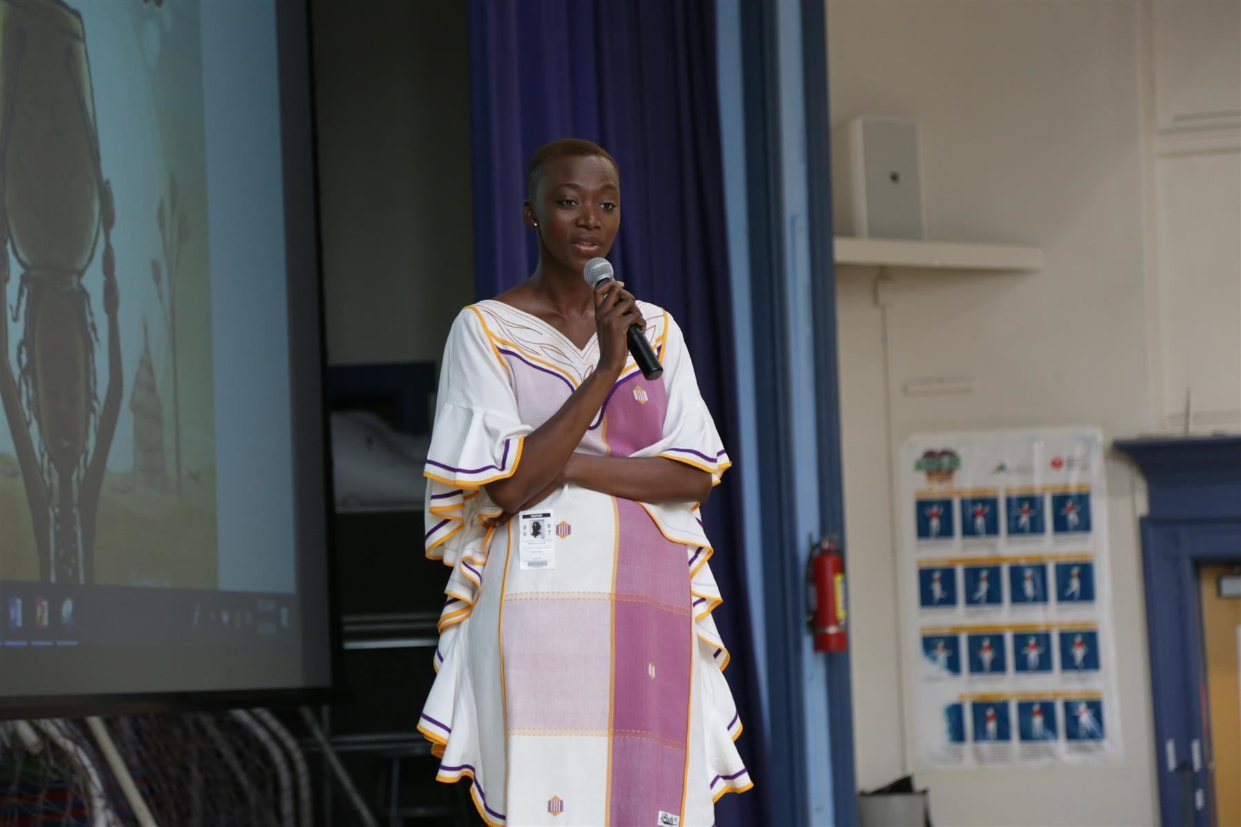 "Georgie Badiel Miss Africa ""The Water Princess"" Visits School 2"