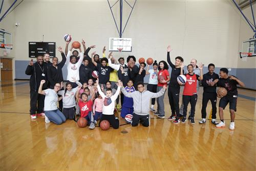 Basketball Clinic Students Celebrate their Accomplishments