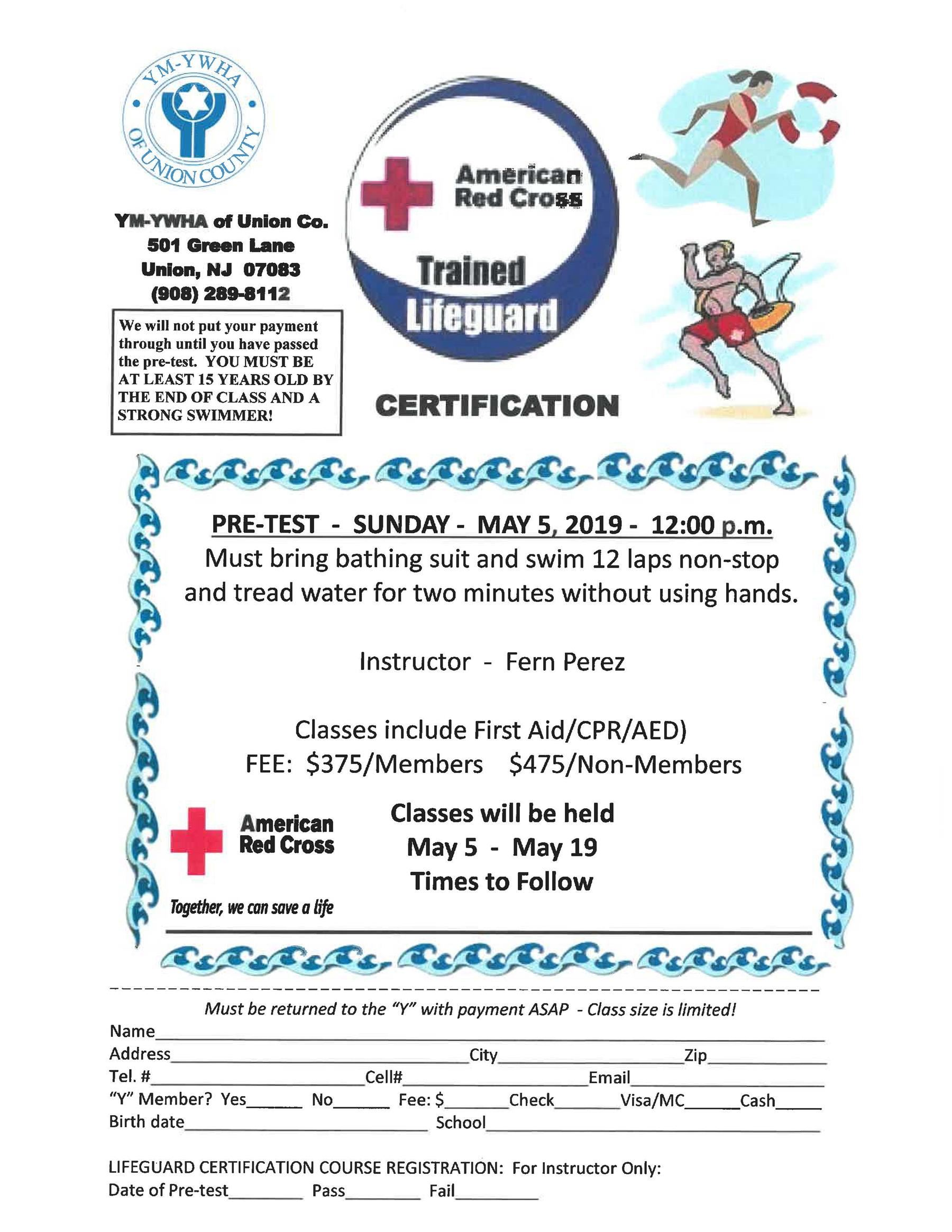 American Redcross Trained Lifegurad Certification