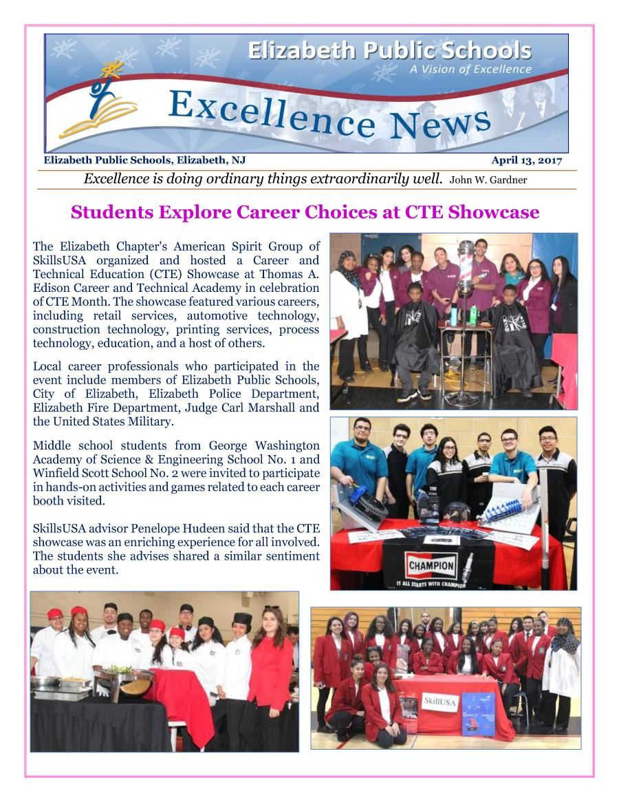 Excellence News April 2017