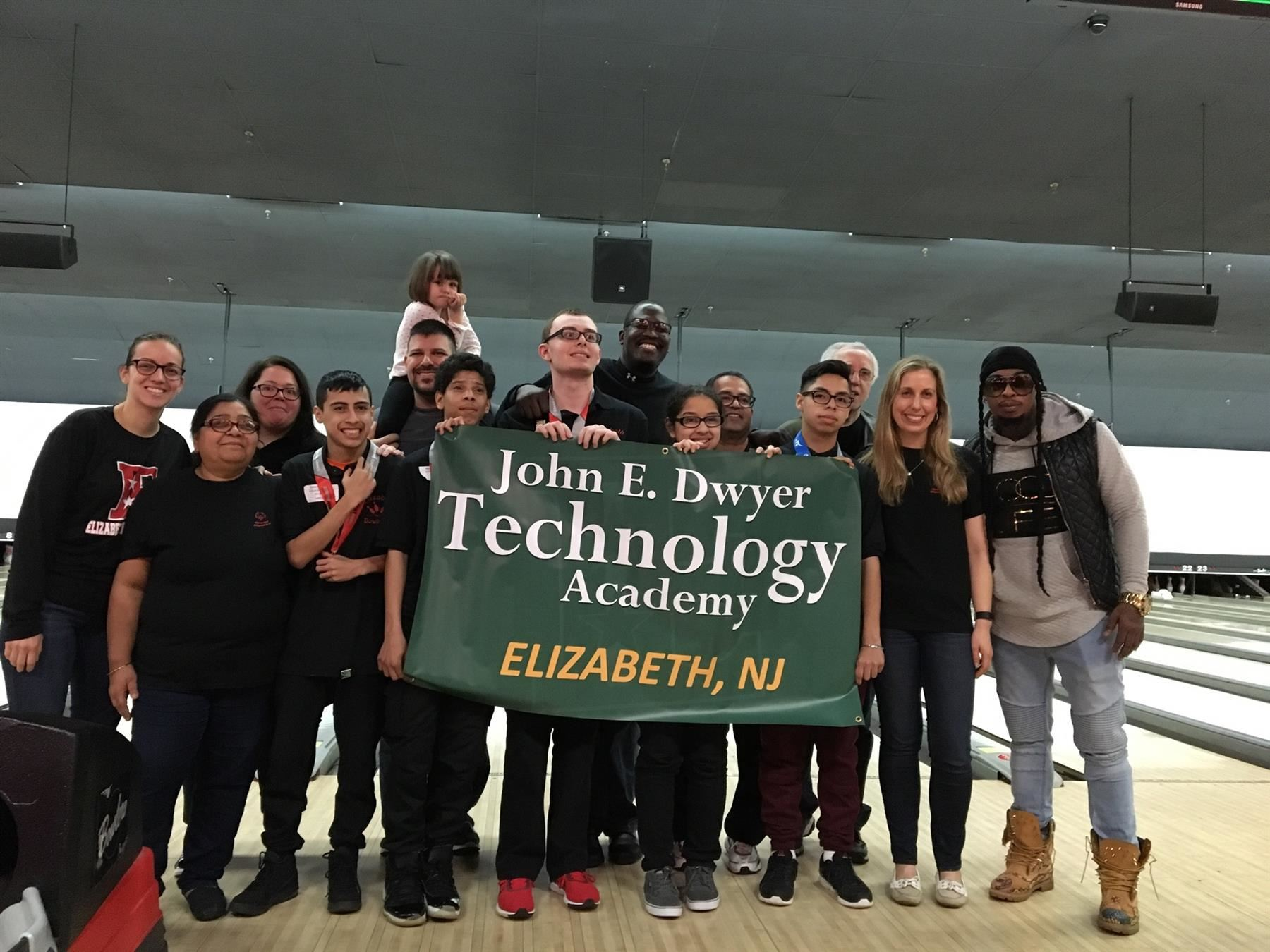 John E. Dwyer Technology Academy participated in the Spring Tournament Bowling Competition for the Special Olympics of New Jersey
