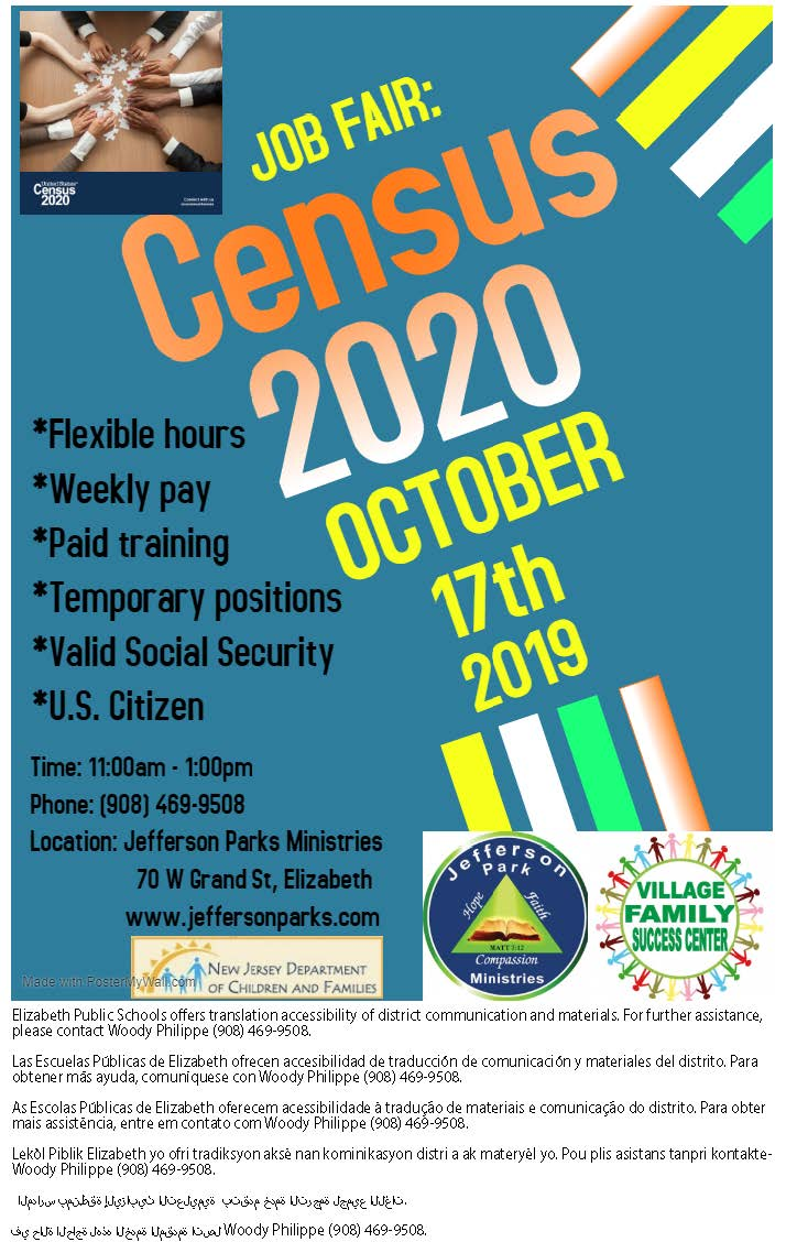Job Fair:  Census 2020