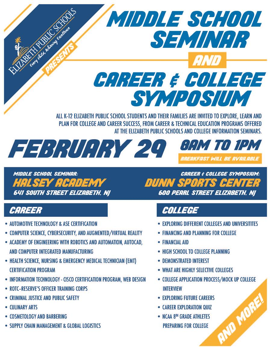 Middle School Seminar and Career & College Symposium