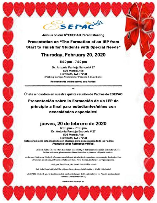 5th ESEPAC Parent Meeting