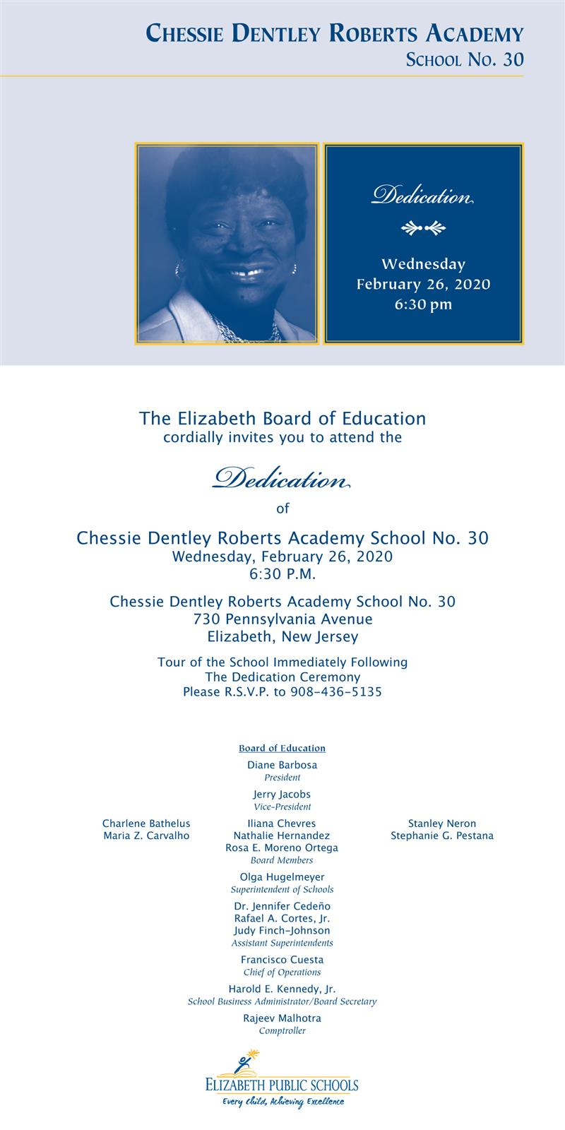 Dedication of Chessie Dentley Roberts Academy School No. 30