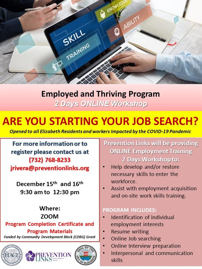Employed  & Thriving  Program