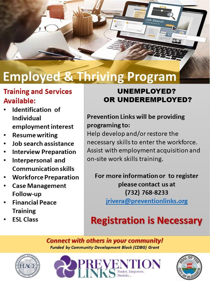 Employed  & Thriving DEC1516