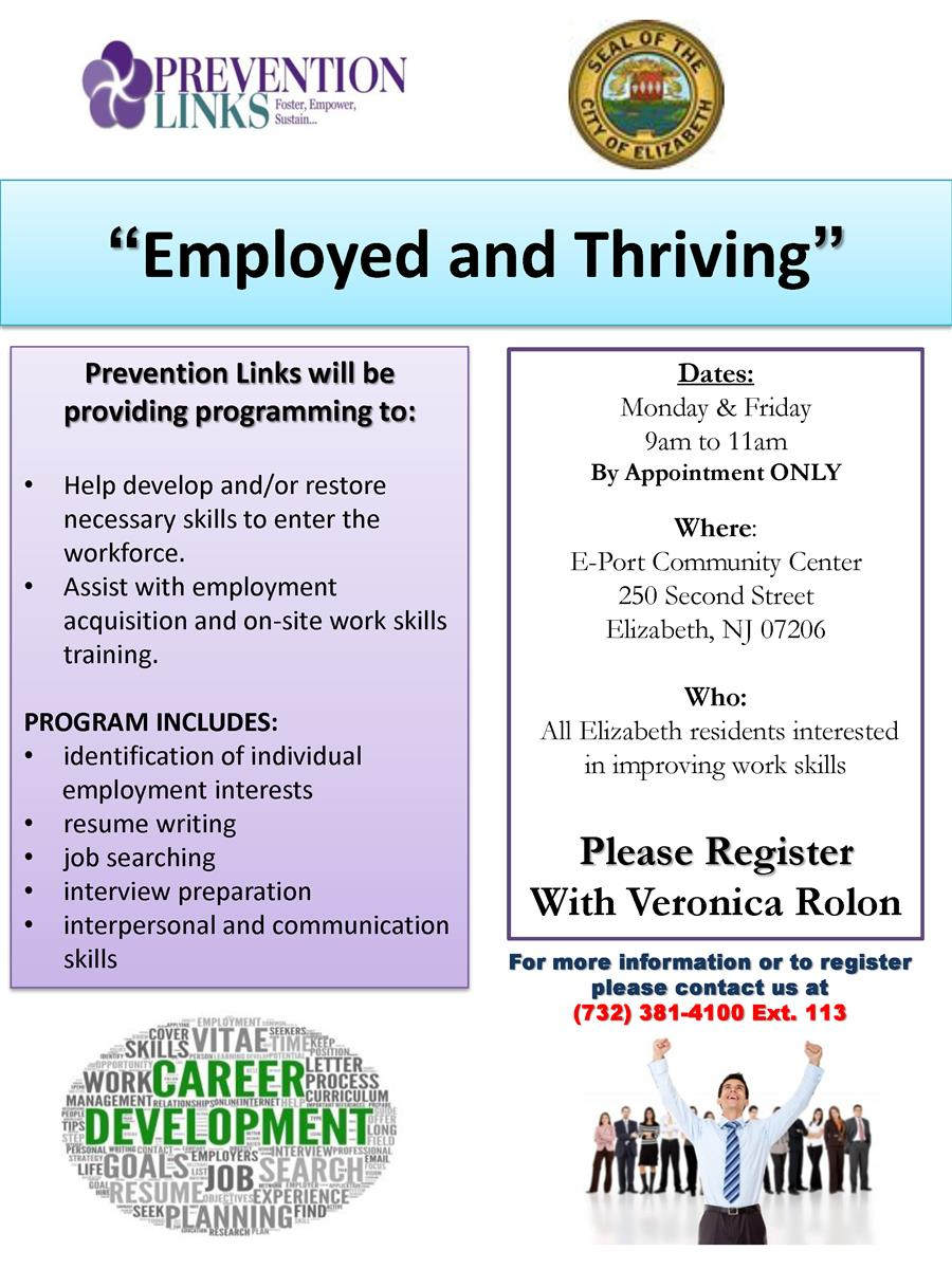 Employment Program Flyer