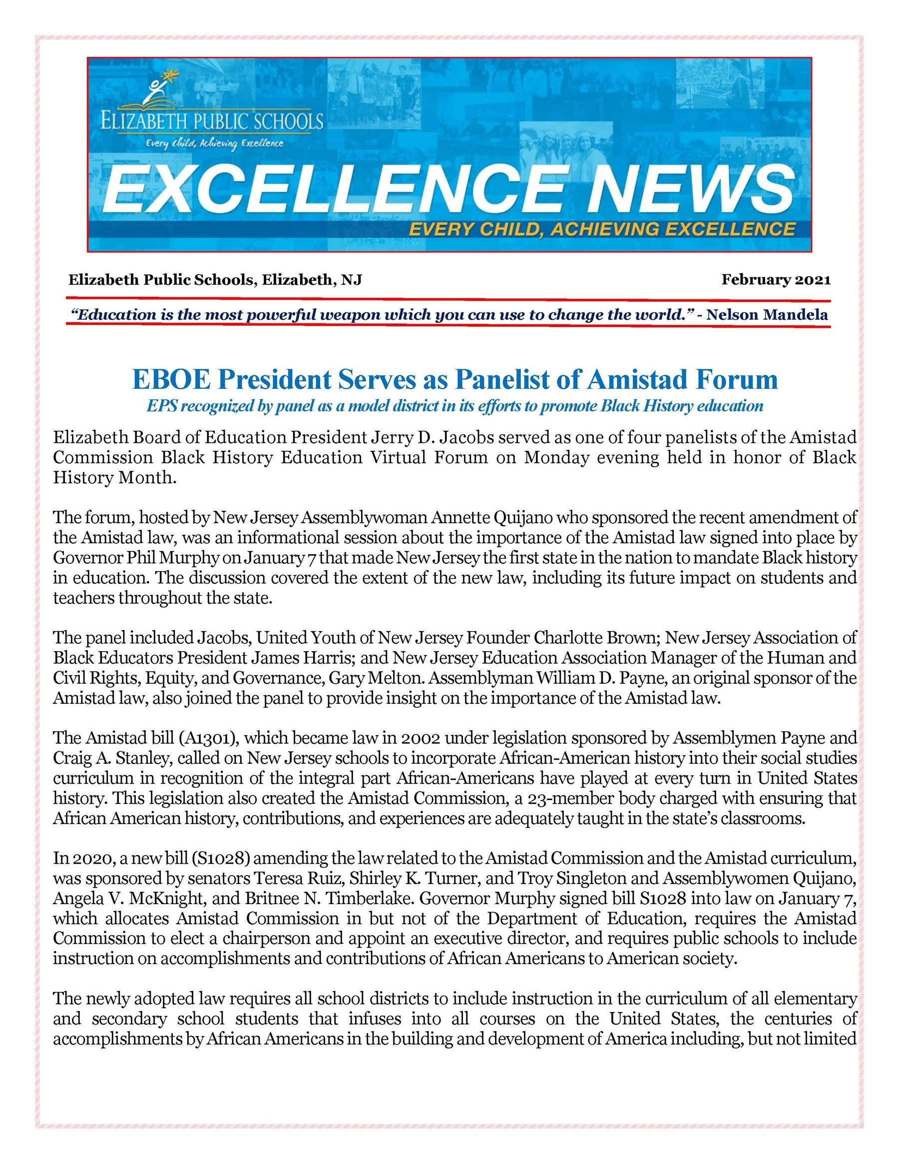 Excellence News February 2021