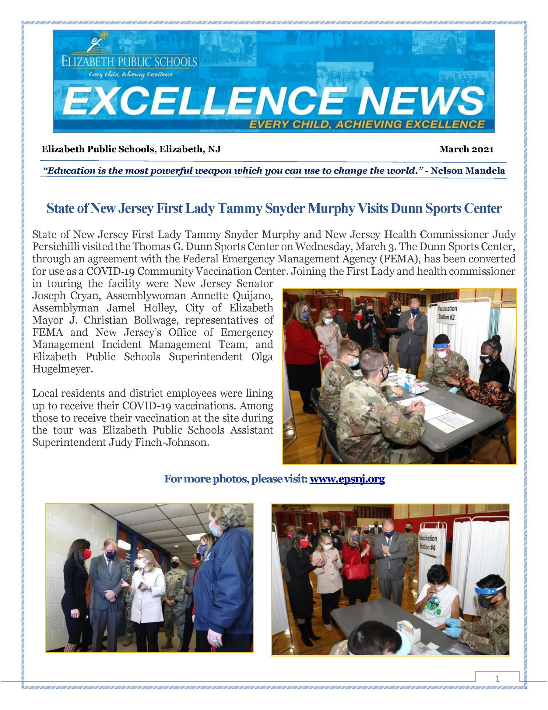 Excellence News - March 2021