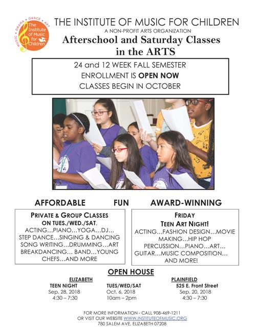 Afterschool & Saturday Classes in the Arts