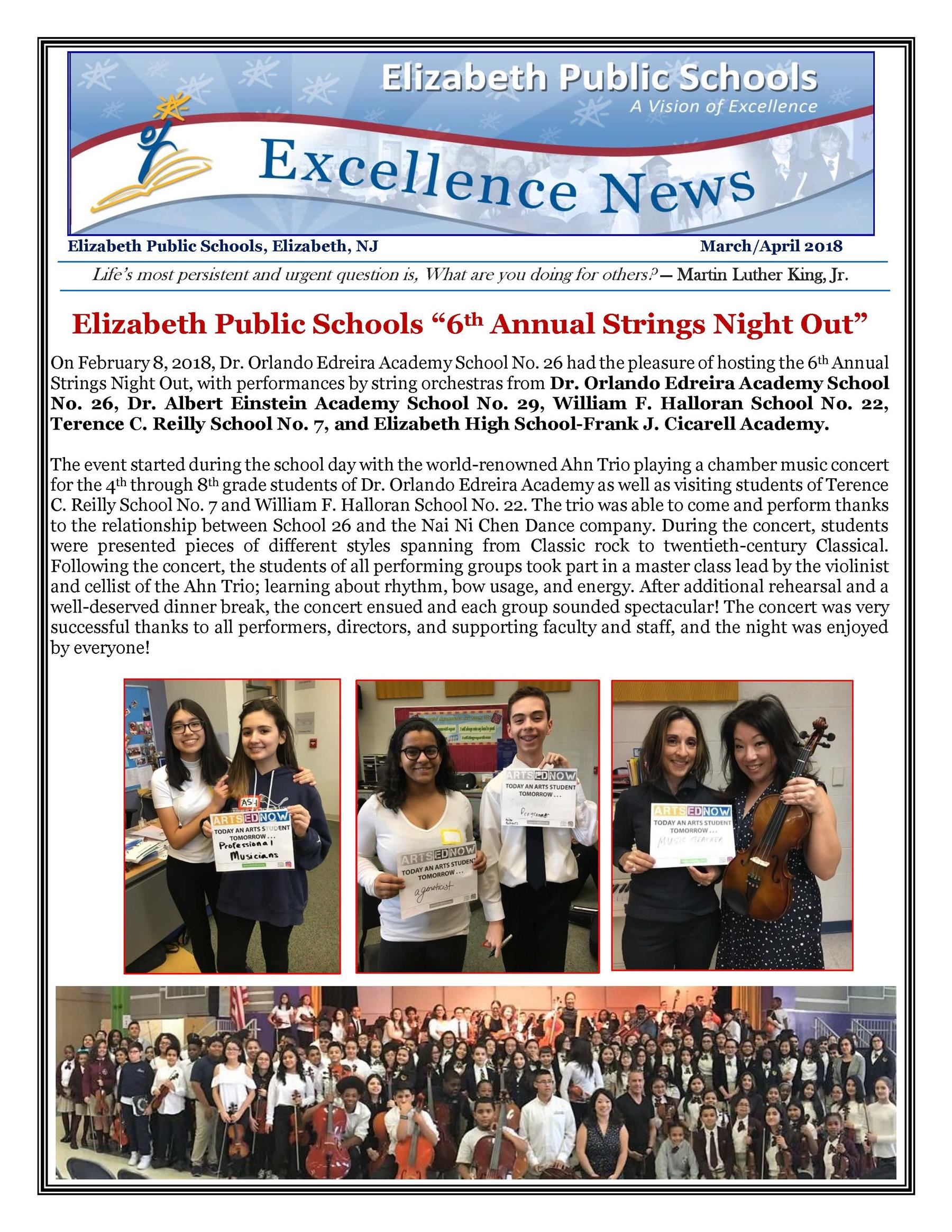 Excellence News Febuary/March