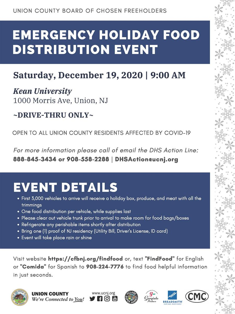 12/12 Food Distribution Events