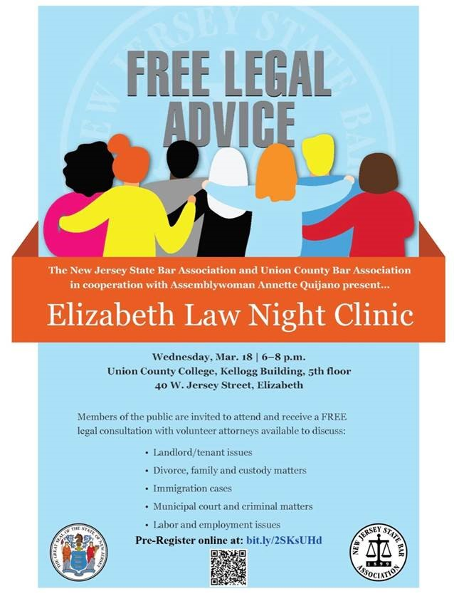 Free Legal Advice: Elizabeth Law Night
