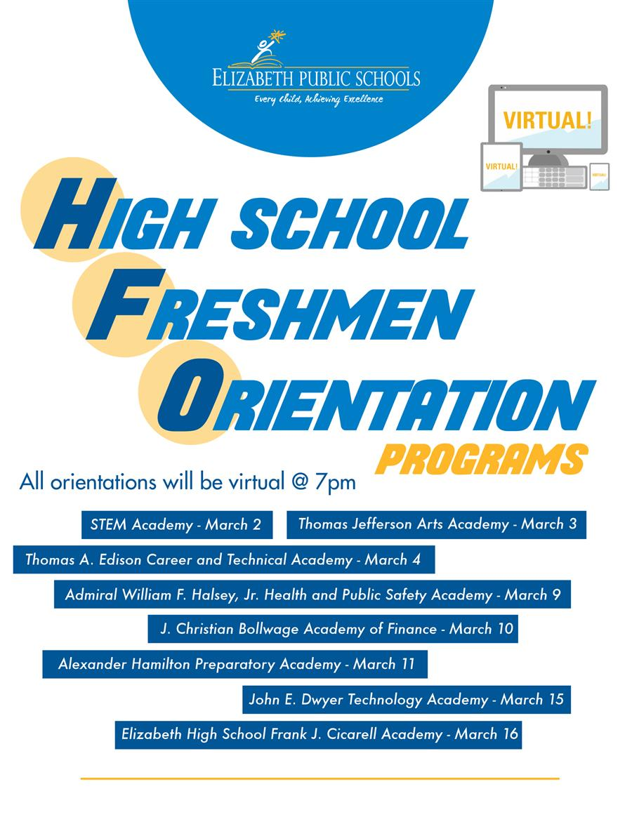 High School Freshmen Information Sessions