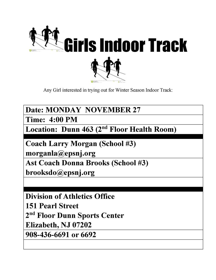 Girls Indoor Track Meeting