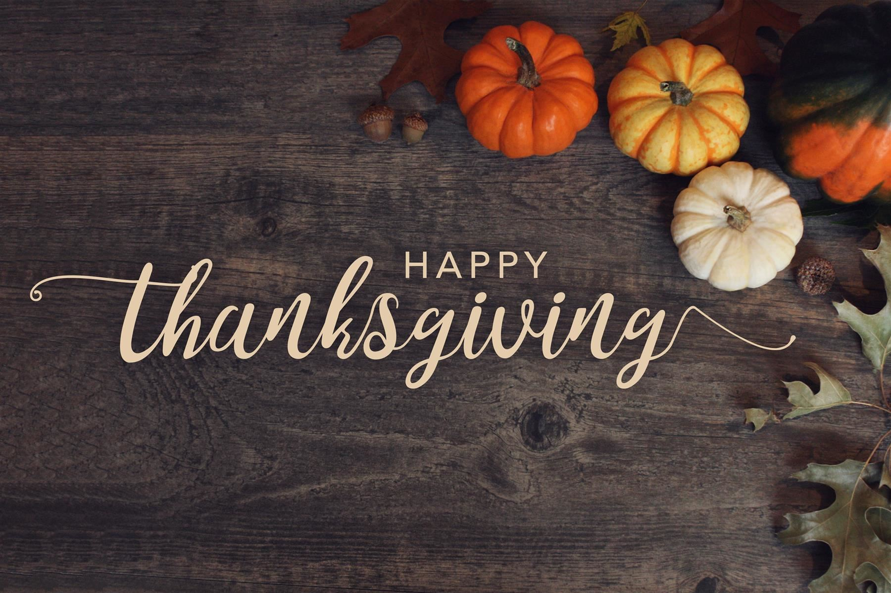 Happy Thanksgiving from Olga Hugelmeyer Superintendent of Schools