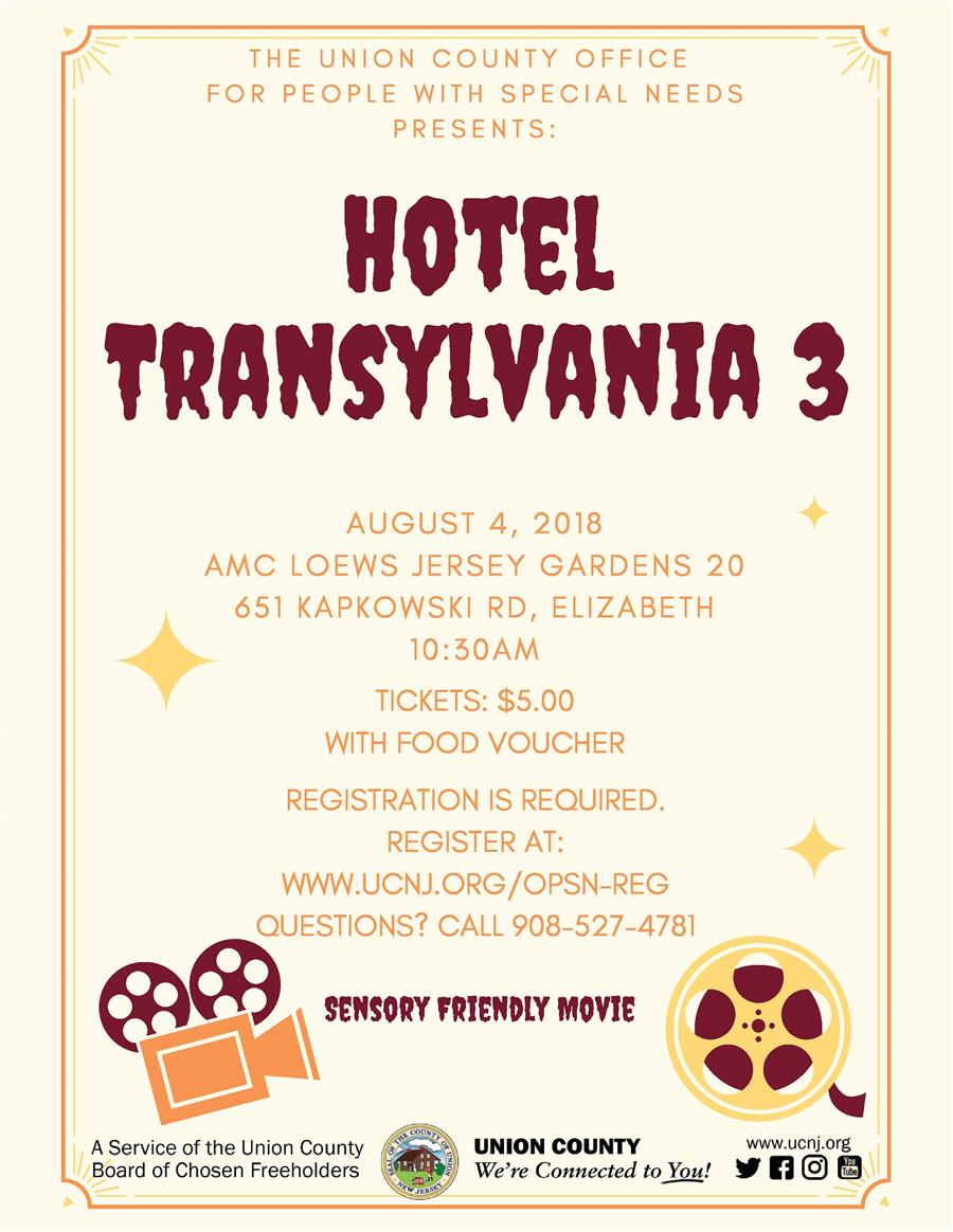 Sensory Friendly Movie: Hotel Transylvania 3