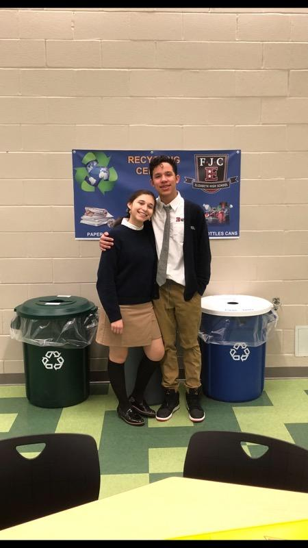 The recycling program at Elizabeth High School – Frank J. Cicarell Academy is well underway.  The EHS – FJC learning communit