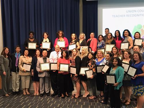 Elizabeth Public Schools Teachers Recognized at Union County Teacher Recognition Program