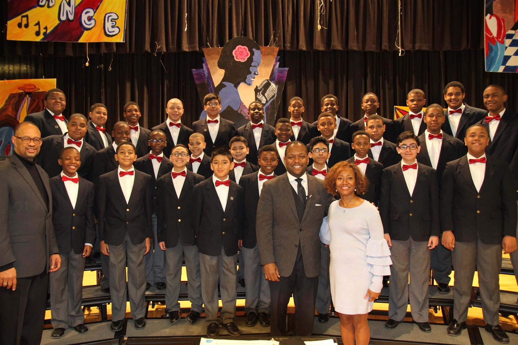 The Newark Boys Choir returns to Ronald Reagan Academy School No. 30