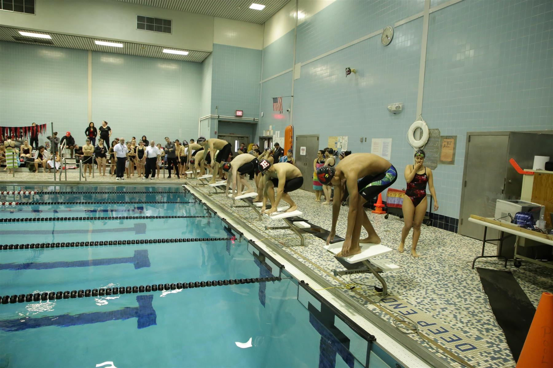Elizabeth Athletics Boys and Girls Swim Teams celebrated their senior swimmers