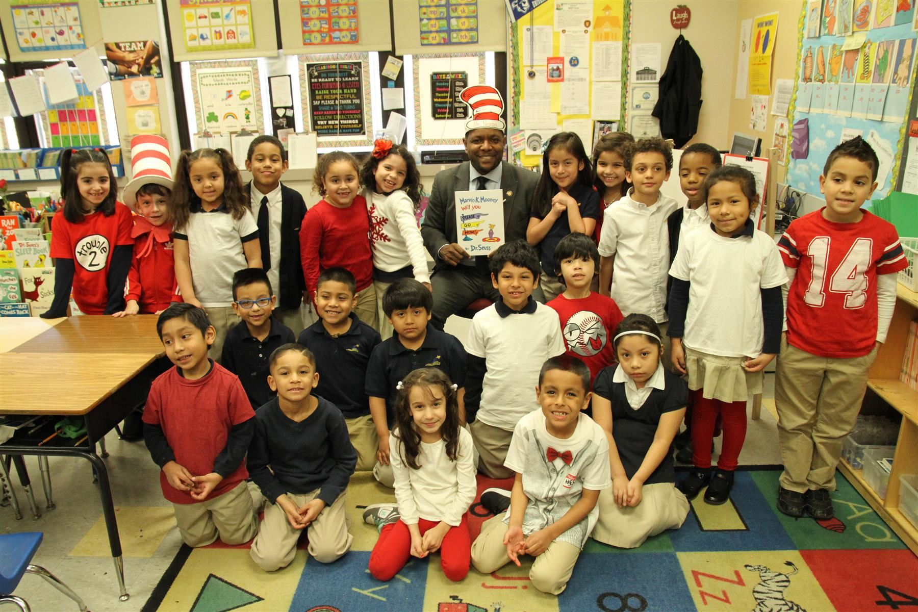 Stanley Neron Board President participated in Read Across America
