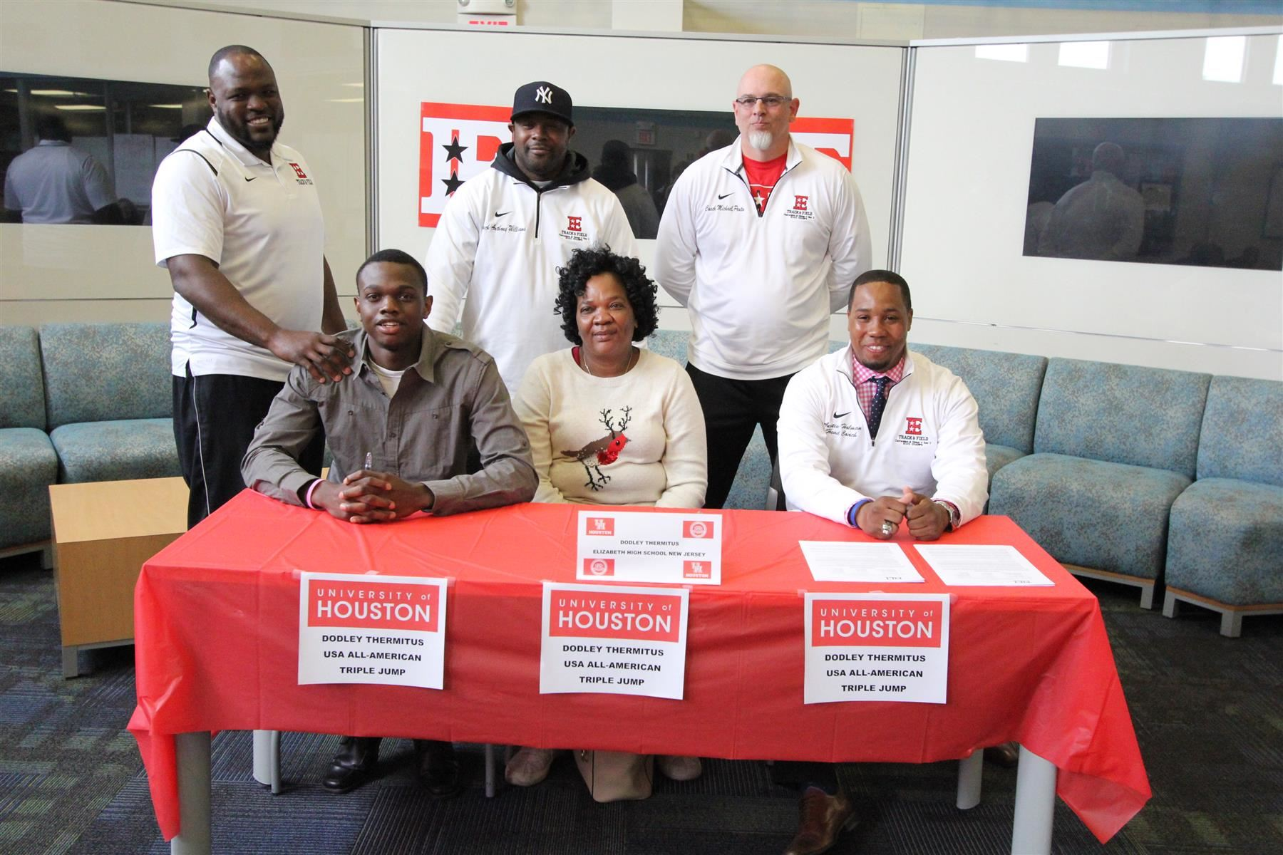 Dodley Thermitus Track Star Signs Letter of Intent to Attend University of Houston