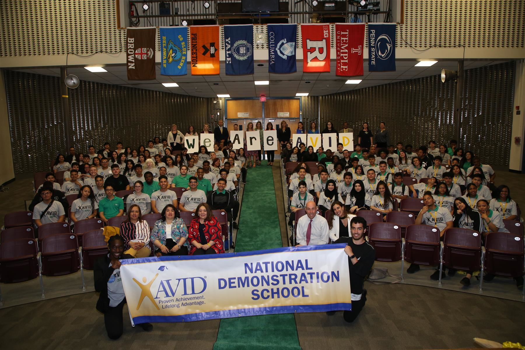 Dwyer Technology Academy was certified as the First National AVID Demonstration High School in Elizabeth