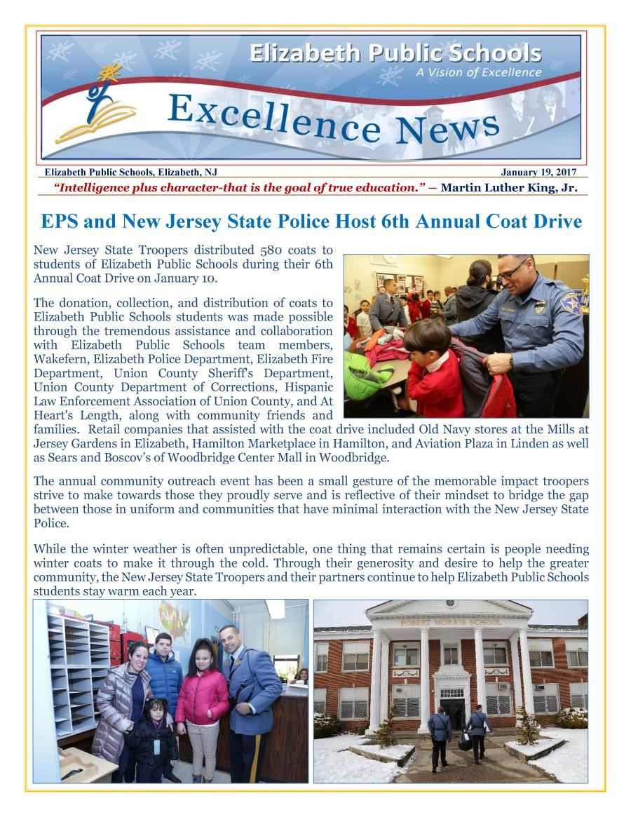 Excellence News January