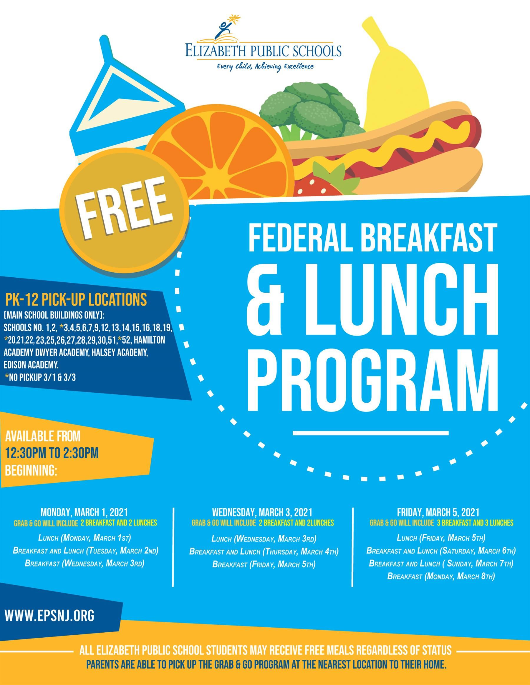 Lunch and Breakfast Program