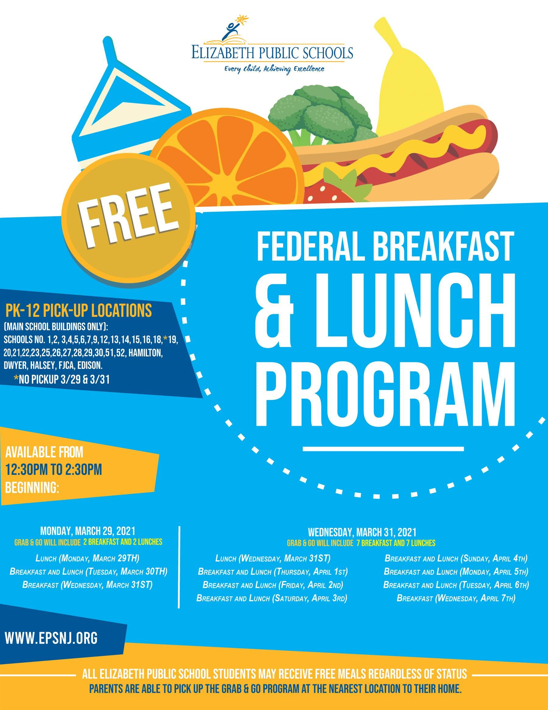 Federal Breakfast & Lunch Program
