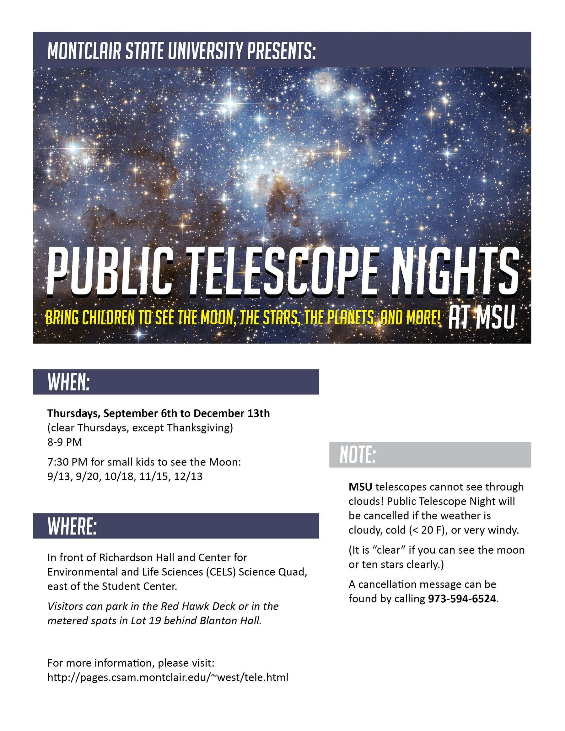 Public Telescope Nights at MSU