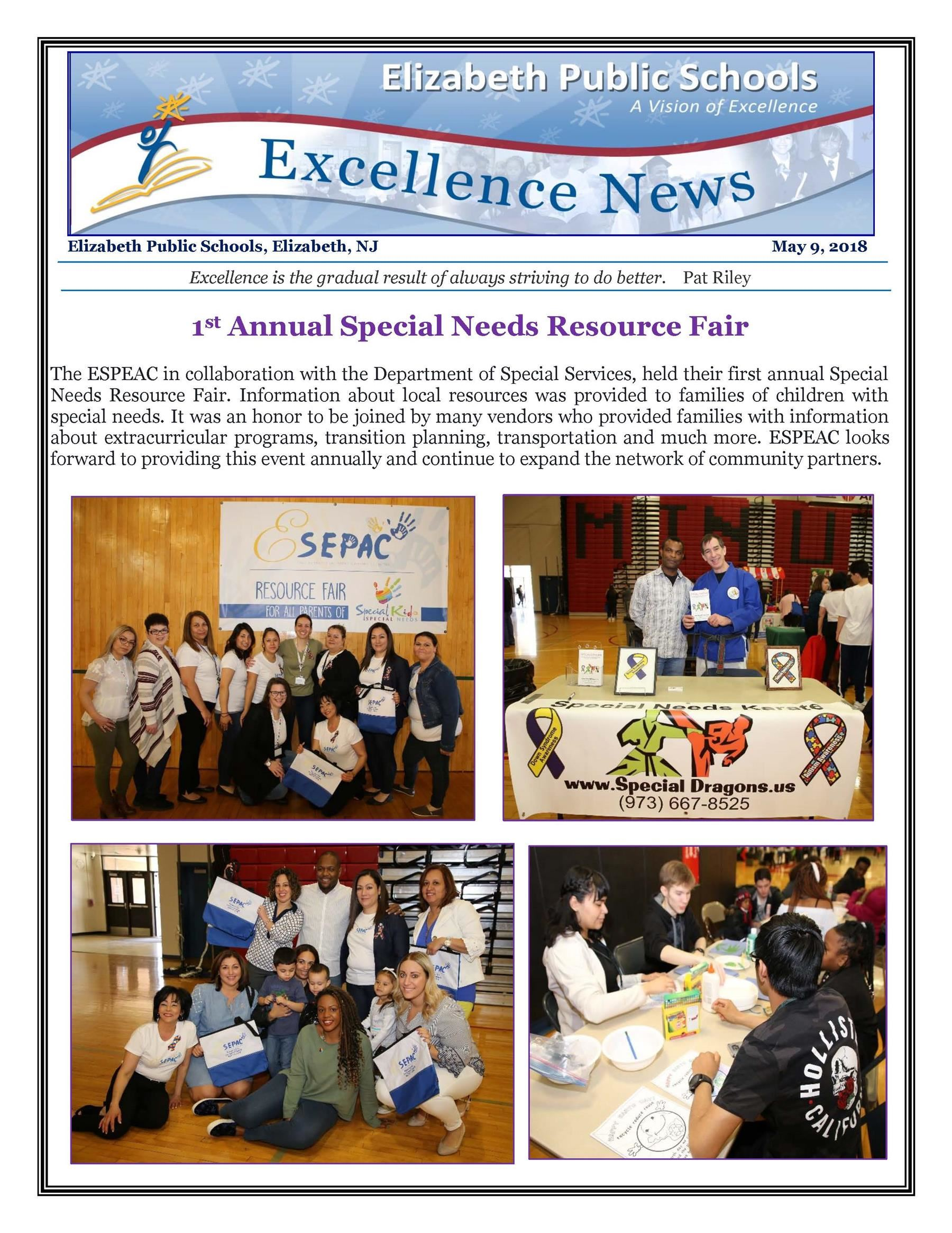 Excellence News May 9, 2018
