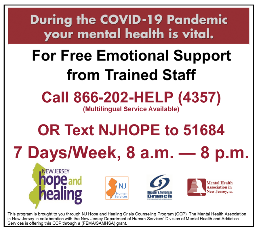 During the COVID-19 Pandemic your mental health is vital