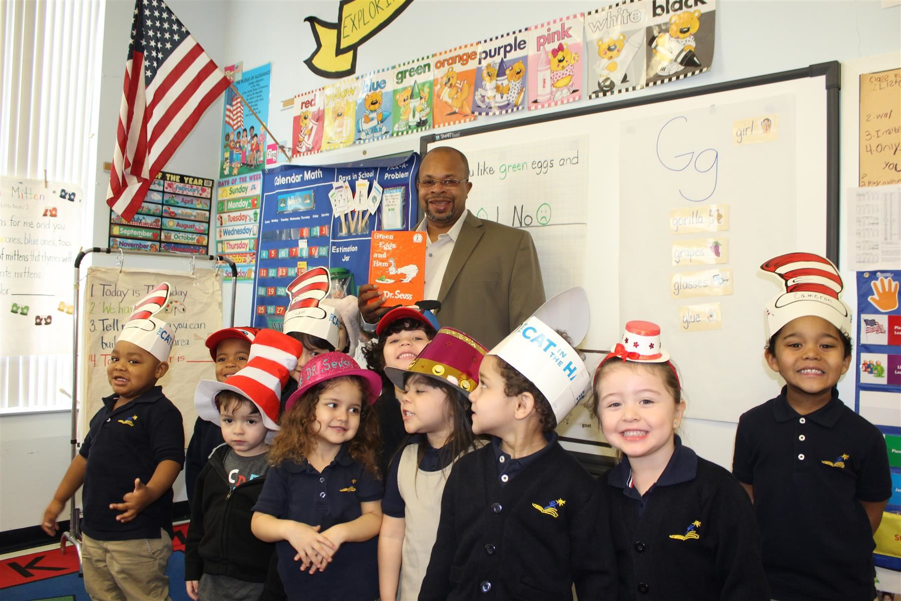 Board of Education Member - Mr. Jerry Jacobs visits School #51