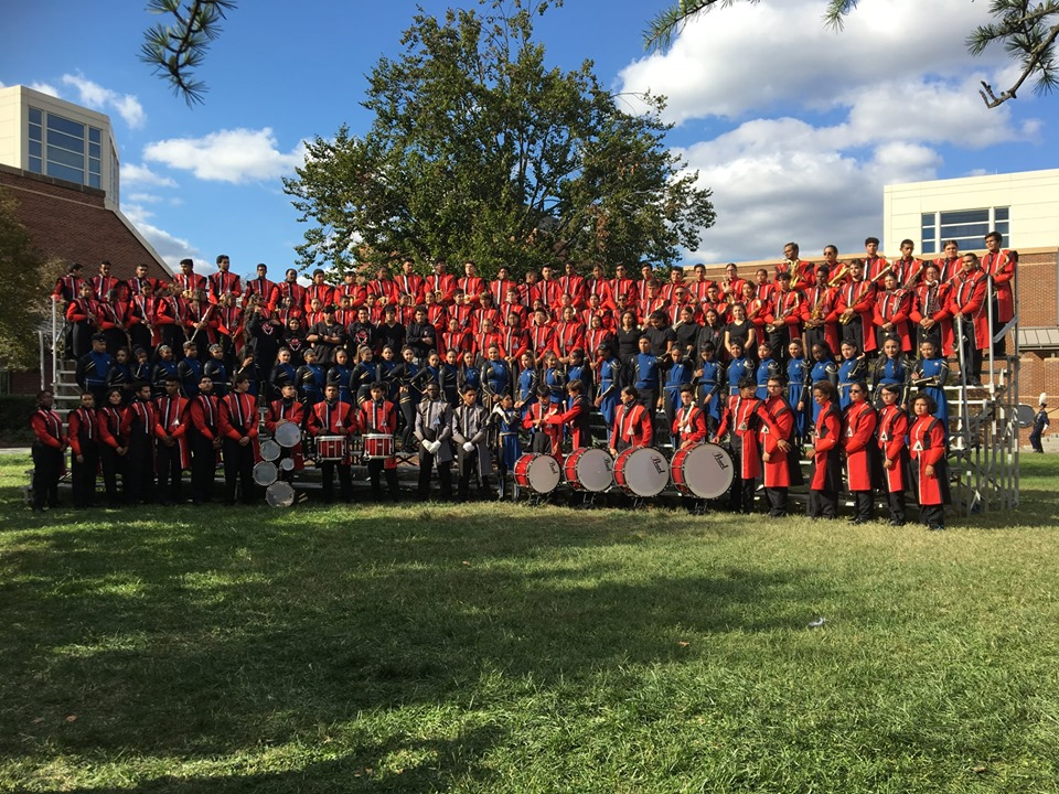 The Elizabeth High School Marching Band attended the Bands of America Mid-Atlantic Regional Championships held at University
