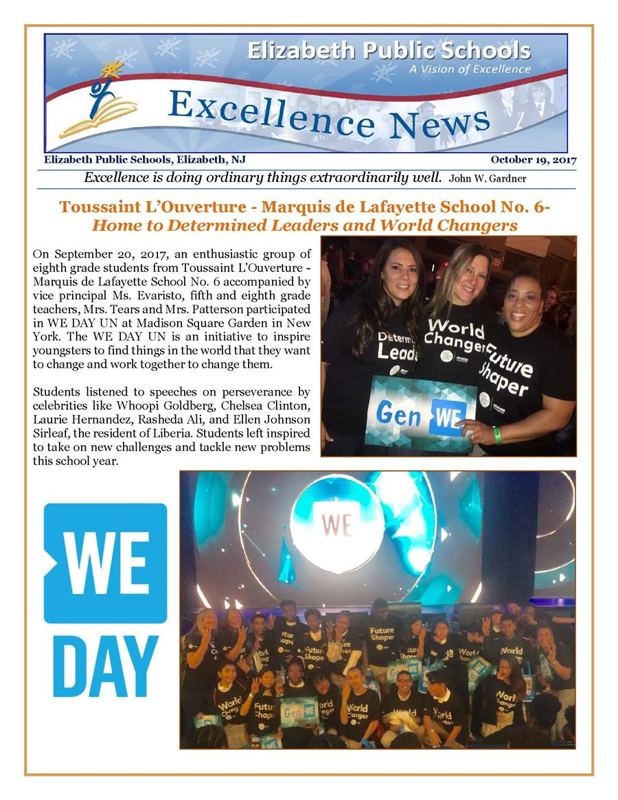 Excellence News October
