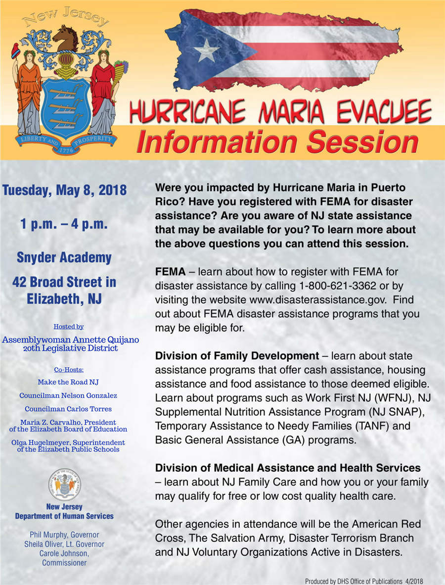 Puerto Rican Evacuee Information Session