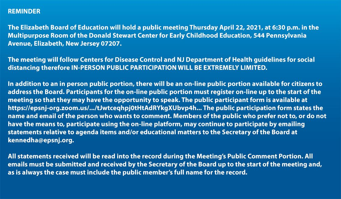 REMINDER - EBOE MTG April 22,2021