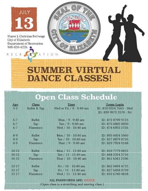 Summer Virtual Dance Classes