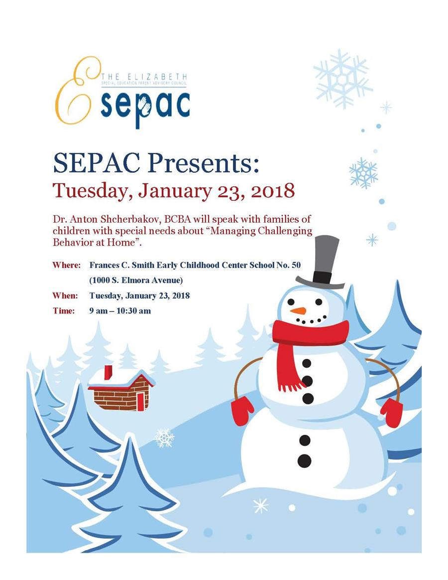 SEPAC Presents: Managing Challenging Behavior at Home