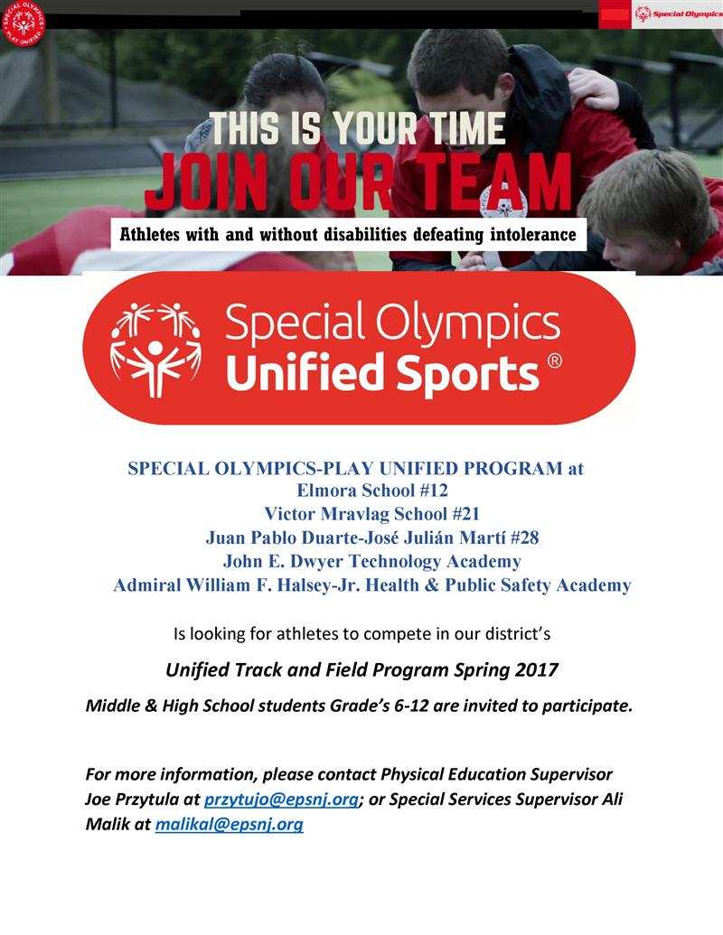 SPECIAL OLYMPICS-PLAY UNIFIED PROGRAM