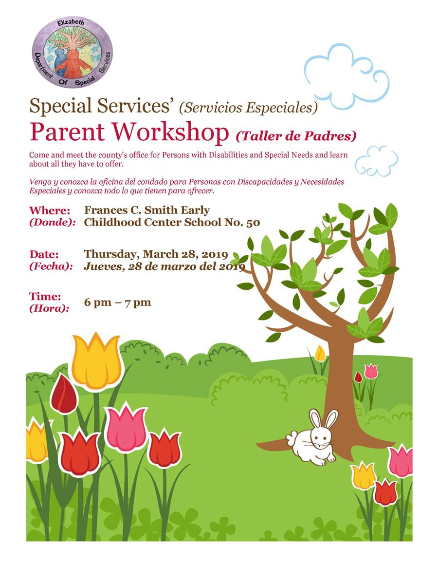 Special Services' Parent Workshop
